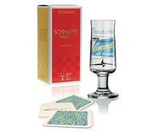 RITZENHOFF Schnapps Schnapsglas von Jürgen Esser Design , aus Kristallglas, 40 ml, mit fünf Schnapsdeckeln