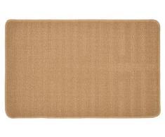 "deco-mat Badematte ""Feng Shui"" | Rutschfester Badvorleger | waschbarer Duschvorleger | Badteppich 50 x 80 cm in Beige"