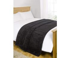 Nerz-Kunstfell, überwurf für Sofa / Bett, warm, weich, groß, Schwarz, Polyester, schwarz, King - 200 x 240xm