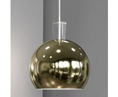 Nordlux 83183035 Kugel Pendelleuchte, Metall, silber