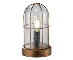 Trio Leuchten LED Tischleuchte Birte 503800162, Metall kupferfarbig antik, exkl. 1x E14