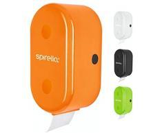 Spirella WC Rollenhalter + ErsatzrollenhalterCube zum kleben oder bohren Orange