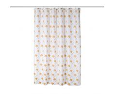 axentia Duschvorhang Einhorn weiß/gold, hochwertige Duschgardine blickdicht 180 x 180 cm, wasserabweisender Badewannenvorhang, waschbarer Vorhang für Dusche und Bad