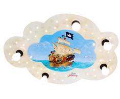 Elobra Kinderzimmerlampe Captn Sharky auf hoher See, Deckenleuchte, Holz, beige, 130810