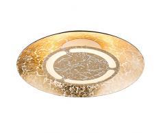 Globo Tabea Deckenleuchte, Metall, 6 W, goldfarben