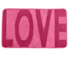 Wenko 22252100 Memory Foam Love Badteppich, Polyester, rosa, 80 x 50 x 0,5 cm