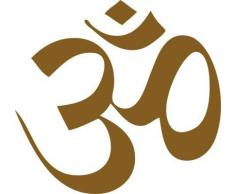 Graz Design 630057_40_091 Wandtattoo Indisches Symbol Om Deko für Wohnzimmer Wanddeko 42x40cm Gold