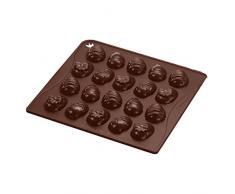 Dr. Oetker Silikon-Schokoladenform Ostereier, Pralinen-, Eis-, oder Backform für kleine Kreationen aus der Serie Confiserie (Farbe: Braun); Menge: 1 Stück