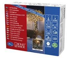 Konstsmide 3609-800 Micro LED Lichterkette/für Außen (IP44) / VDE geprüft / 24V Außentrafo / 20 bernsteinfarbene Dioden/schwarzes Kabel