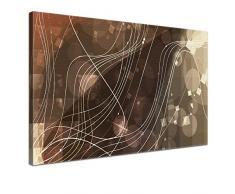 LANA KK - Leinwandbild Connect Used abstraktes Design auf Echtholz-Keilrahmen – Fotoleinwand-Kunstdruck in gold, einteilig & fertig gerahmt in 100x70cm