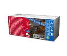 Konstsmide 3692-100 LED Solarlichterkette 80 warm weiße Dioden / Blink- und Dauerlicht / Erdspieß / grünes Kabel