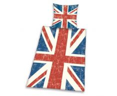 Herding 445944050412 Bettwäsche Union Jack, Kopfkissenbezug: 80 x 80 cm und Bettbezug: 135 x 200 cm, 100 % Baumwolle, Renforce