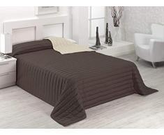 SABANALIA Tutto Bett Tagesdecke Winter und Maßnahmen (erhältlich 90 – 180 x 270, Schokolade/Erde