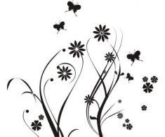 INDIGOS WG10181-70 Wandtattoo W181 Schmetterlinge Wandaufkleber 80 x 72 cm, schwarz