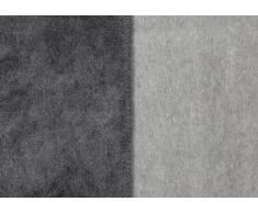 Kuscheldecke IBENA Dublin 2340 / Wendedecke grau/hellgrau / Tagesdecke 150x200 cm / angenehm warm und besonders kuschelig weich / hervorragende Qualität mit hohem Baumwollanteil in vielen verschiedenen Größen und Farben erhältich