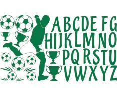 Graz Design 770053_100x57_061 Wandtattoo Wandaufkleber Set für Kinderzimmer ABC Fußball Pokale Bälle