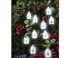 ABC Home Garden Gartendeko | Solarleuchte LED | Lichterkette | Lichtsensor, Plastik, Weiß, 4 x 4 x 6.5 cm
