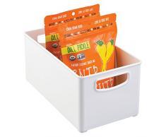 InterDesign 64531EU Aufbewahrungsbox für Küchenschrank, Speisekammer, Kühlschrank oder Gefrierschrank, Tief, weiß