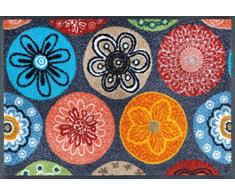 wash + dry 066026 Coralis Fußmatte, Acryl, 40 x 60 x 0,7 cm, bunt