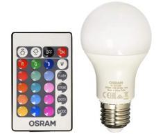 Osram LED Star+ Classic A RGBW Lampe, in Kolbenform mit E27 Sockel, dimmbarkeit und Farbsteuerung per Fernbedienung, Ersetzt 60 Watt, Warmweiß - 2700 Kelvin, 6er-Pack