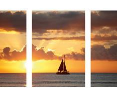 Eurographics Boat Near Hawaii 50x70 Wandtattoo, Papier, DP-DC2045, 70 x 50 x 0.4 cm
