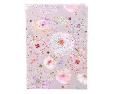 Goldbuch Notizbuch A5, Primavera Grey, 200 chamoisfarbene Blankoseiten, Kunstdruck mit Goldprägung und Relief, Grau, 64329