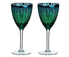 Artland deco Peacock Weinglas, 2er Set, mehrfarbig, Farbe