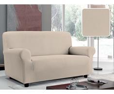 Italian Bed Linen Più Bello Sofaüberwurf Bielastico Sagomato Stoff Struktur Liscia Für 4 Personen Puder
