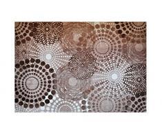 LifeStyle-Mat 100932 Punkte, rutschfester und waschbarer Teppich, ideal für die Wohnung oder das Büro, 140 x 200 cm, beige / weiß