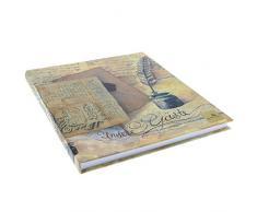 Goldbuch Gästebuch mit Lesezeichen, Nostalgie, 23 x 25 cm, 176 weiße Blankoseiten Schreibpapier, Kunstdruck laminiert, Braun/Beige, 48089
