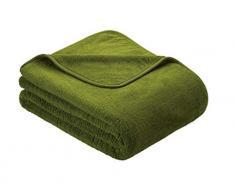 Kuscheldecke s.Oliver 3612 / premium Feecedecke grün / unifarbene Markendecke 150x200cm / aus hochwerigem Polyester / eingefasst mit einem sehr edelen Band