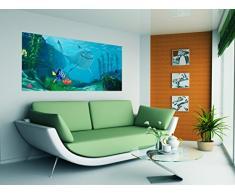 AG Design FTDh 0614 Findet Nemo Disney Hai, Papier Fototapete Kinderzimmer - 202x90 cm - 1 Teil, Papier, multicolor, 0,1 x 202 x 90 cm
