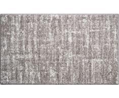 Linea Due Badteppich 100% Polyacryl, ultra soft, rutschfest, SAVIO, Badematte 70x120 cm, taupe