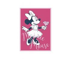Disney Wandbild von Komar | Minnie Mouse Girlie | Kinderzimmer, Babyzimmer, Dekoration, Kunstdruck | Größe 50x70cm (Breite x Höhe) | ohne Rahmen | WB048-50x70