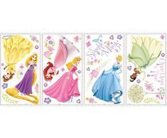 RoomMates RMK1903SCS RM - Disney Prinzessinnen Leuchtend Wandtattoo, PVC, Bunt, 29 x 13 x 2.5 cm