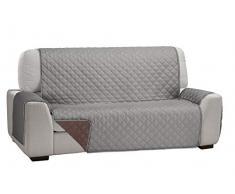 Martina Home Martina Dual Cover Sofaüberwurf mit wendbarer Polsterung 2 Plätze Grau/braun