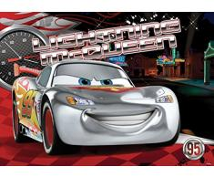 AG Design FTDM 0738 Cars Disney Papier Fototapete für Kinderzimmer, Mehrfarbig, 160 x 115 cm