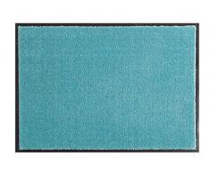 Hanse Home Waschbare Schmutzfangmatte Soft & Clean Türkis rund, ø 75 cm