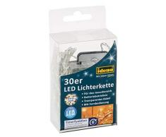 Idena 31602 - LED Lichterkette mit 30 LED in warm weiß, mit 6 Stunden Timer Funktion und Fernbedienung, Batterie betrieben, für Partys, Weihnachten, Deko, Hochzeit, als Stimmungslicht, ca. 1,75 m