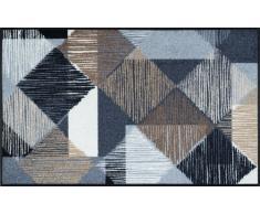 Wash+Dry Fußmatte Lines and Boxes 75x120 cm