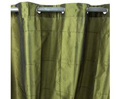William (150x 250cm) grün bronze Polyester Taft Vorhang monbeaurideau