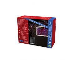 Konstsmide 3672-503 LED Eisregen Lichtervorhang mit bunten Globes / für Außen (IP44) / 24V Außentrafo / 200 bunte Dioden / transparentes Kabel