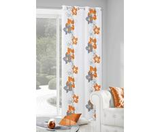 Eurofirany ZAS/Glory/B+POMA Vorhang Glory mit Blumenmotiv, 140 x 250 cm, orange