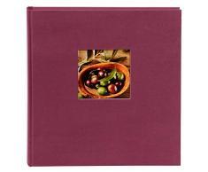 Goldbuch Fotoalbum mit Bildausschnitt, Bella Vista, 30x31 cm, 60 schwarze Seiten mit Pergamin-Trennblättern, Leinen, Fuchsia, 27 908