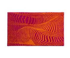 Grund KARIM RASHID Exklusiver Designer Badteppich 100% Polyacryl, ultra soft, rutschfest, ÖKO-TEX-zertifiziert, 5 Jahre Garantie, KARIM 13, Badematte 60x100 cm, orange