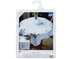 Vervaco Tischläufer Glücksklee Stickpackung/Läufer im vorgedruckten/vorgezeichneten Kreuzstich, Baumwolle, Mehrfarbig, 40 x 100 x 0.3 cm