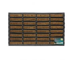 JVL Tuffscrape Fußmatte aus Gummi und Kokosfaser 45x75 cm für drinnen und draußen geeignet