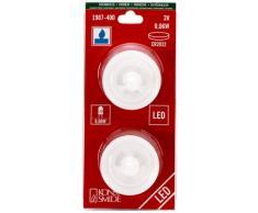 Konstsmide 1987-400 LED Dekoration kleines Teelicht / für Innen (IP20) / 2er Set / Batteriebetrieben: 2xCR2032 3V (inkl.) / 2 blaue Dioden