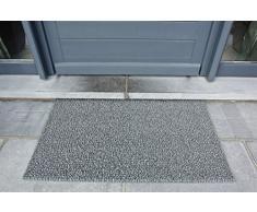 AstroTurf Classic Fußmatte, Fußabstreifer Eingangsmatte für Innen- und Außenbereich, Unvergleichliche Reinigungsleistung, Polyethylen, Silber-Grau, 90x55x2 cm