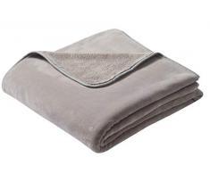 biederlack Überwurf, Fleece, 180 x 220 cm, Taupe